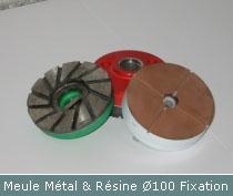 meule metal et resine pour faconnage profil par bullnose diametre 100
