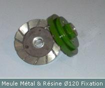 meule metal et resine pour faconnage profil par bullnose diametre 120