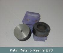 patin metal et resine pour polissage a plat ou incline