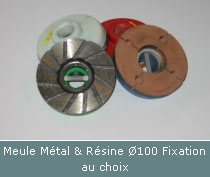 patin métal et résine pour polissage à plat ou incliné