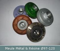 meule metal et resine pour polissage egouttoir granit et composite