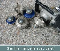 gamme outils profilage manuelle avec galet
