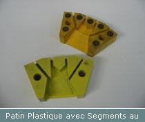 patin plastique avec segments