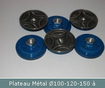 plateau metal surfacage diametre 100 120 150