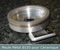 meule metal diametre 150 ceramique