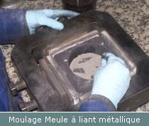 moulage meule a liant metallique