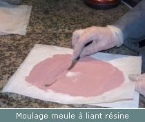 moulage meule a liant resine