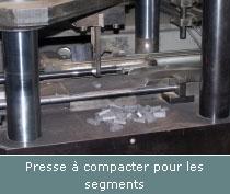 presse a compacter pour les segments
