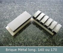 brique metal de polissage